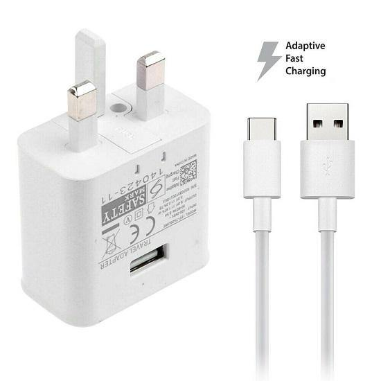 Official Samsung Galaxy Tab S6 Lite Fast Mains Charger with Type-C USB Cable White