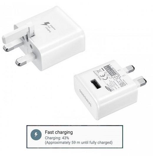 Official Samsung Galaxy S10 / S10 Plus Fast Mains Charger with Type-C USB Cable White - Uk Mobile Store