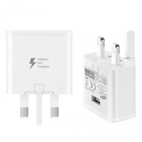 Official Samsung Galaxy A21 Fast Mains Charger with Type-C USB Cable White - Uk Mobile Store