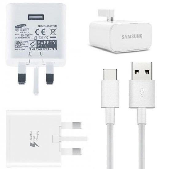 Official Samsung Galaxy A3 2018 Fast Mains Charger with Type-C USB Cable White - Uk Mobile Store