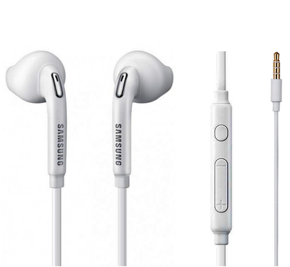 Official Samsung Galaxy S6 and S6 Edge White Headset Hansfree 3.5mm Earphones - EO-EG920BW