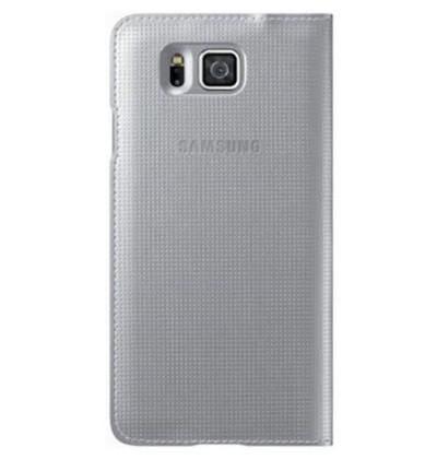 Samsung Galaxy Alpha Flip Wallet Cover Case - Silver - Uk Mobile Store