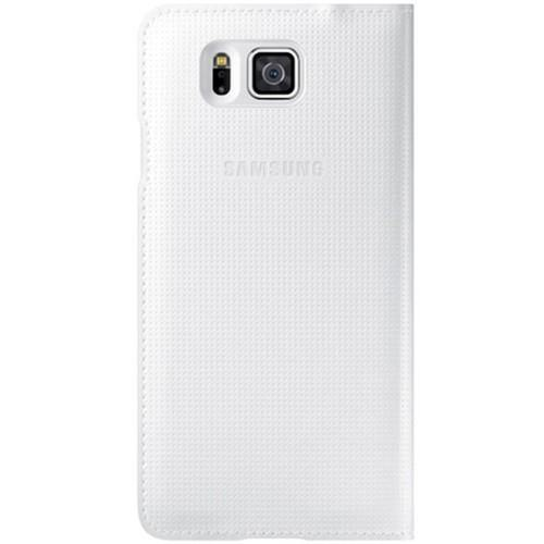 Genuine Samsung Galaxy Alpha Flip Cover Case - White - Uk Mobile Store