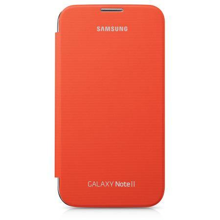 Genuine Samsung Galaxy Note 2 Flip Cover - Orange - EFC-1J9FOEGSTD