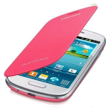Genuine Samsung Galaxy S3 Mini Flip Cover - Pink - EFC-1M7FPECSTD - Uk Mobile Store
