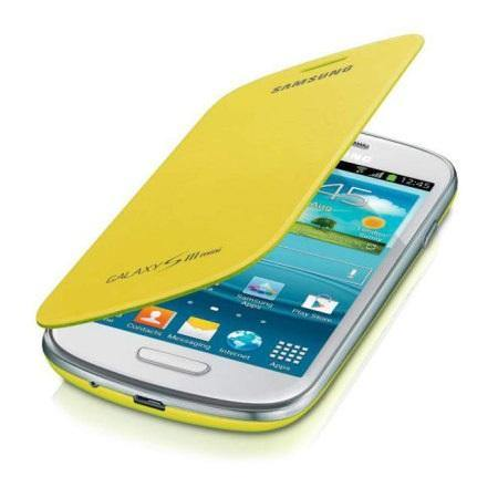 Genuine Samsung Galaxy S3 Mini Flip Cover - Yellow - EFC-1M7FYEGSTD