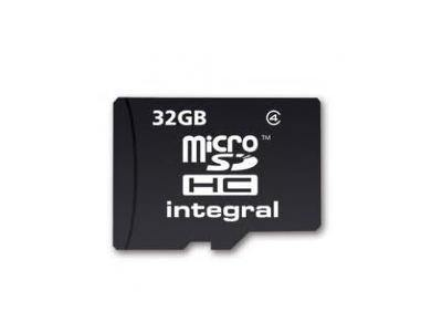 Integral 32GB microSDHC Class 4 Memory Card - Uk Mobile Store