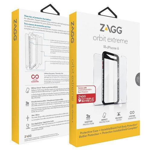 Zagg Invisible Shield iPhone 6 / 6S 4.7 Orbit Extreme Tough Case Cover Black