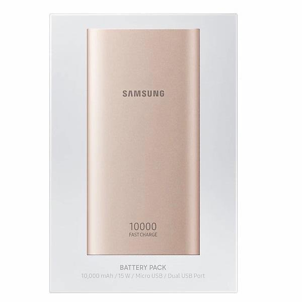 Official Samsung Micro USB 10,000mAh Power Bank Battery Pack Pink - EB-P1100BPEGWW