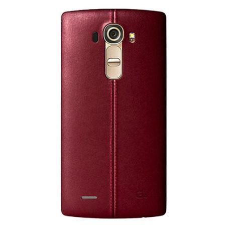 LG G4 Leather Replacement Back Cover Burgundy Red - Uk Mobile Store