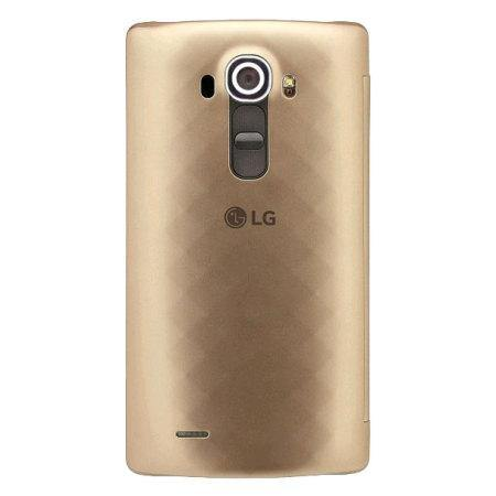 LG G4 QuickCircle Snap On Case - Gold - Uk Mobile Store