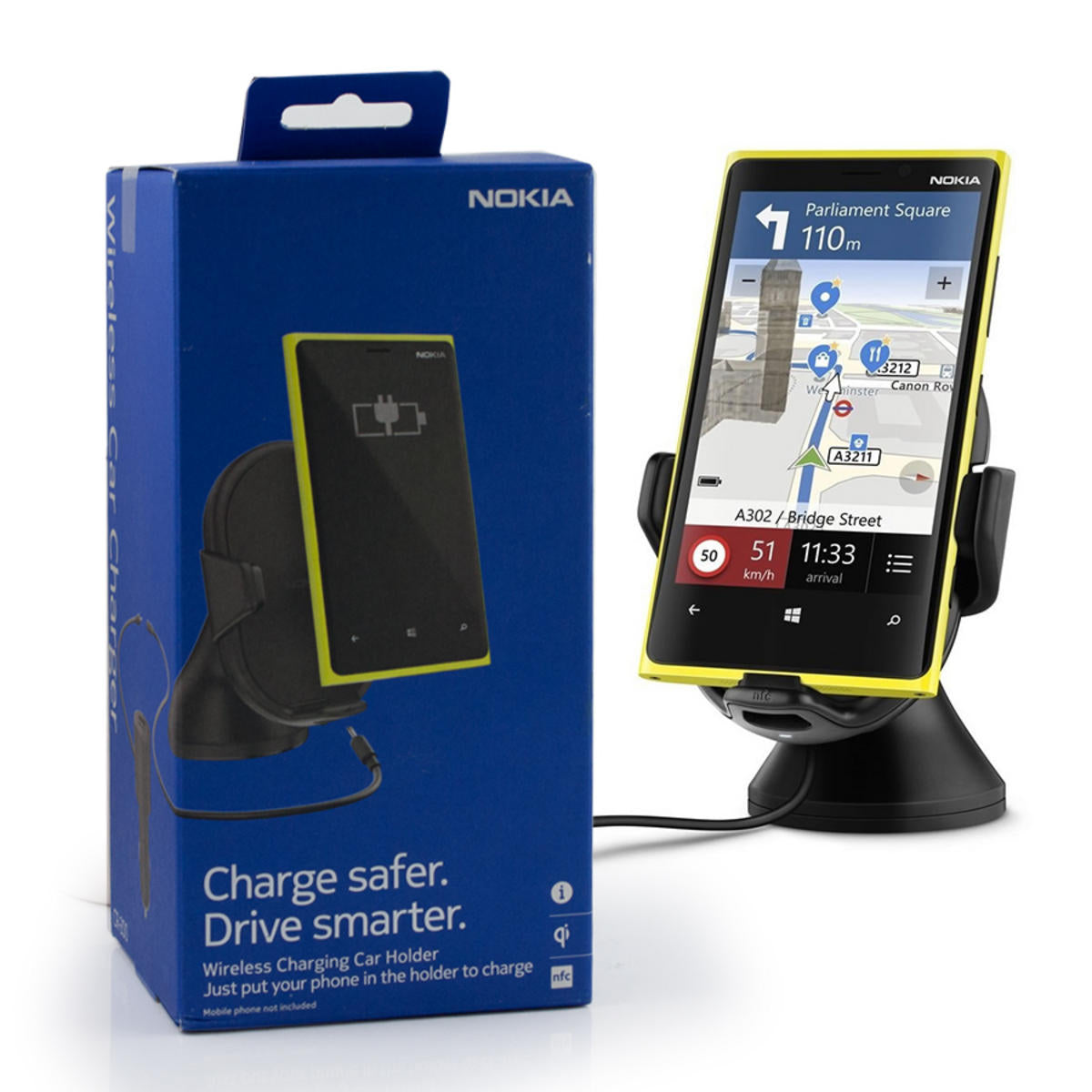 Nokia CR-200 Wireless Charging NFC Car Holder