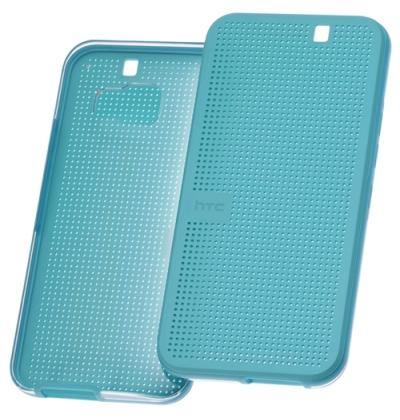 Official HTC One M9 Dot View Ice Premium Case - Turquoise Blue