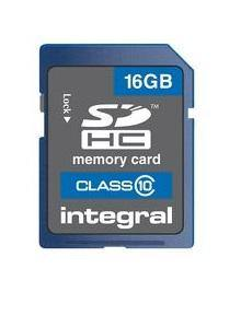 Integral 16GB SDHC Memory Card Class 10