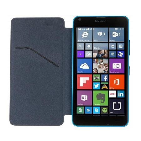 Official Microsoft Lumia 640 Wallet Cover Case - Cyan - Uk Mobile Store