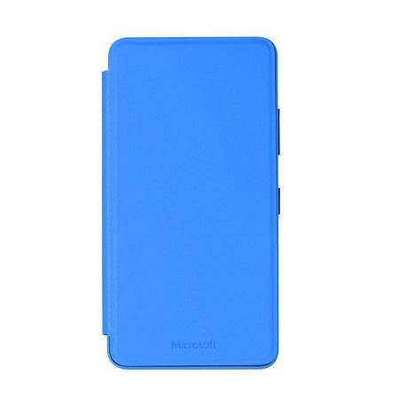 Official Microsoft Lumia 640 Wallet Cover Case - Cyan