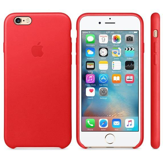 Official Apple iPhone 6 / 6S Leather Case Red