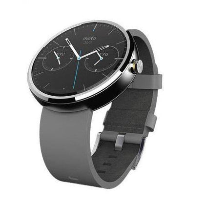 Motorola Moto 360 SmartWatch Grey Leather
