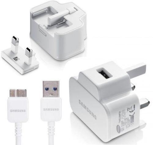 Genuine Samsung Galaxy Note 3 Main Charger With Data Cable - White - Uk Mobile Store