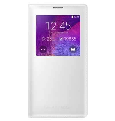 Samsung Galaxy Note 4 S View Cover Case - White - Uk Mobile Store