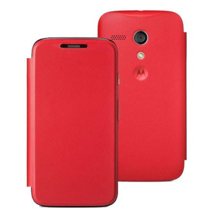 Official Motorola Moto G Flip Cover - Vivid Red