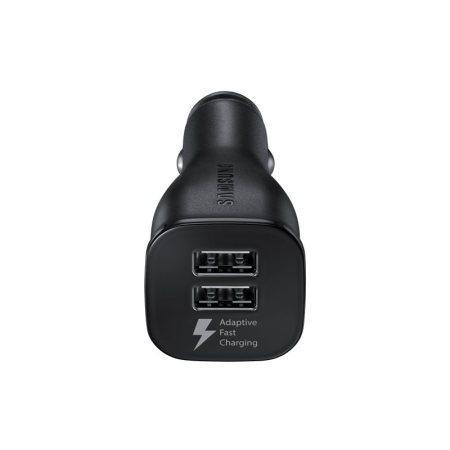 Official Samsung Galaxy A7 2017 Dual Fast Car Charger With Cable Black - Uk Mobile Store