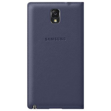 Samsung Galaxy Note 3 Flip Wallet Cover - Indigo Blue