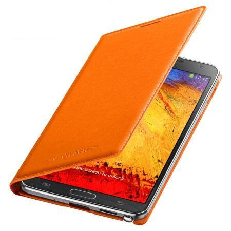 Samsung Galaxy Note 3 Flip Wallet Cover - Wild Orange - Uk Mobile Store