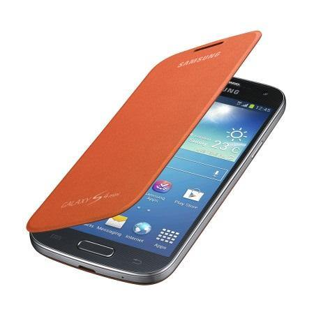 Samsung Galaxy S4 Mini Flip Case - Orange - Uk Mobile Store