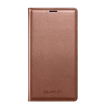 Samsung Galaxy S5 Flip Wallet Cover - Gold