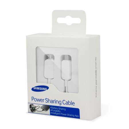 Samsung Galaxy S5 Power Sharing Cable White - EP-SG900UWEGWW
