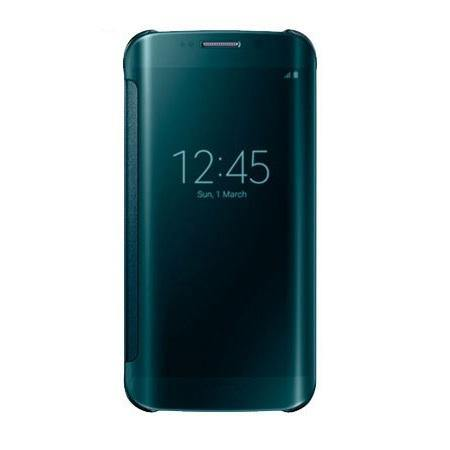 Samsung Galaxy S6 Edge Clear View Cover Case Green - EF-ZG925BGEGWW - Uk Mobile Store