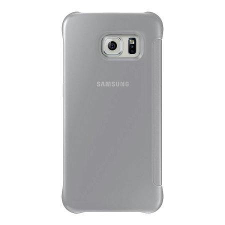 Samsung Galaxy S6 Edge Clear View Cover Case Silver - EF-ZG925BSEGWW - Uk Mobile Store