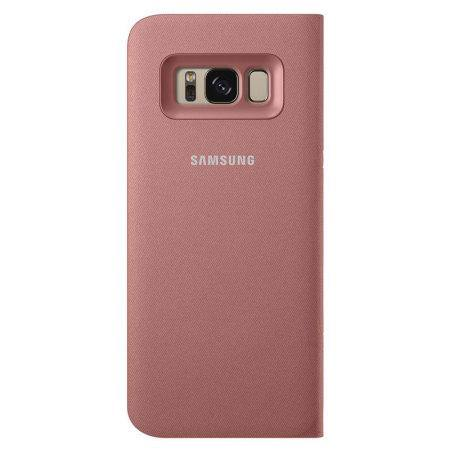 Rosa Samsung Galaxy S8 Plus Led View Samsung Clear View Standing