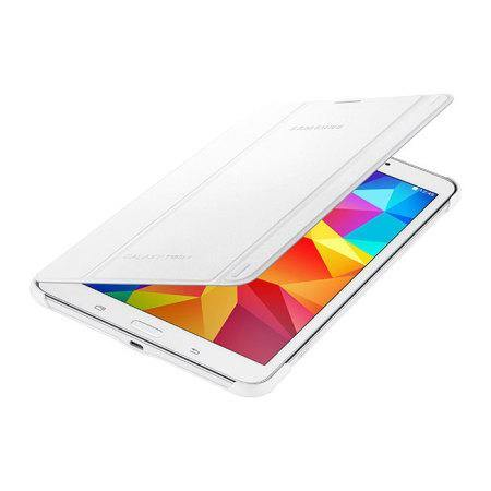 Samsung Galaxy Tab 4 8.0 Book Cover Case - White - Uk Mobile Store