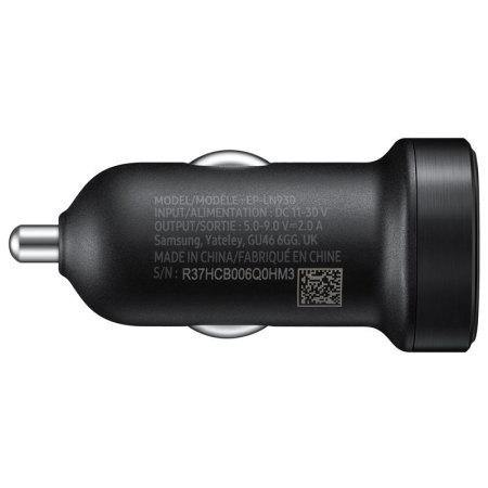 Official Samsung Galaxy A41 Mini Car Adaptive Fast Charger Black - Uk Mobile Store