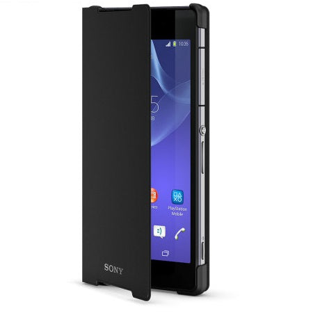 Official Sony Xperia Z2 Style Cover Stand Case Black - SCR10