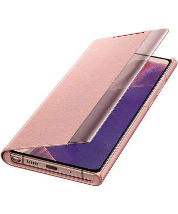 Official Samsung Galaxy Note 20 Clear View Case - Mystic Bronze