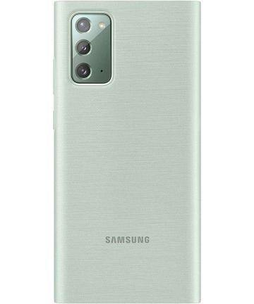 Official Samsung Galaxy Note 20 Clear View Case - Mystic Green - Uk Mobile Store