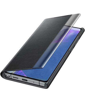 Official Samsung Galaxy Note 20 Clear View Case - Mystic Black - Uk Mobile Store