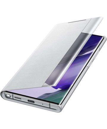 Official Samsung Note 20 Ultra Clear View Cover Case - Mystic Grey - Uk Mobile Store