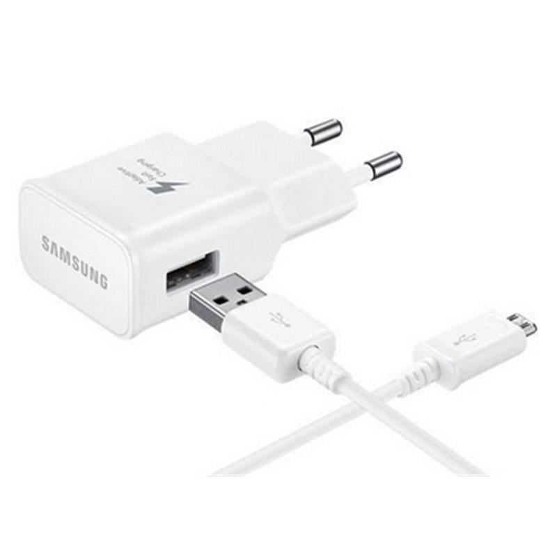 Samsung Universal EU Mains Fast Charger With MicroUSB Cable - White - Uk Mobile Store