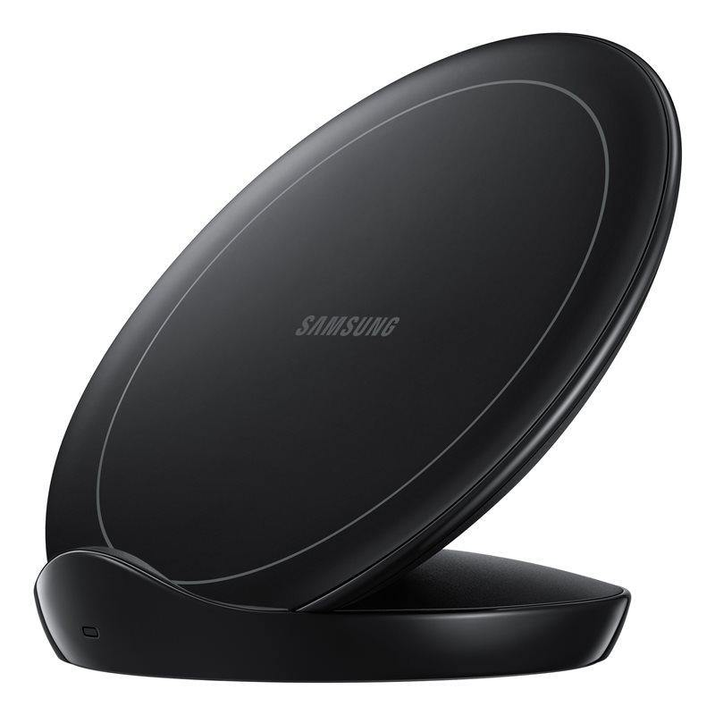 Official Samsung Galaxy A71 9W Fast Wireless Charger Stand with EU Mains Charger Black