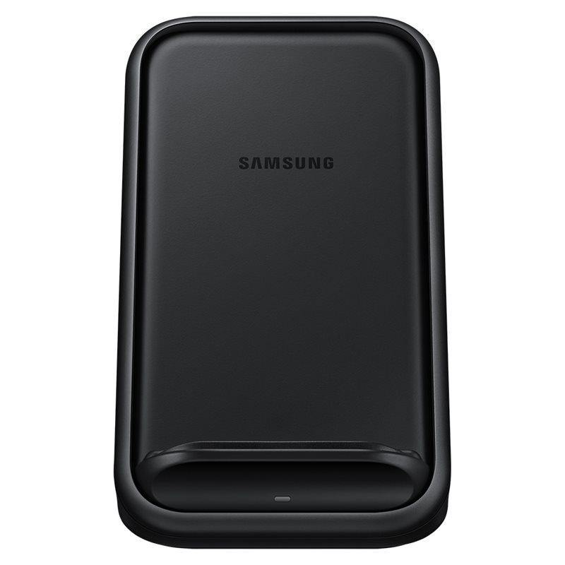 Official Samsung 15W Wireless Charger Stand With UK Charger Black EP-N5200TBEGGB