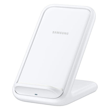 Official Samsung 15W Wireless Charger Stand With UK Charger White EP-N5200TWEGGB