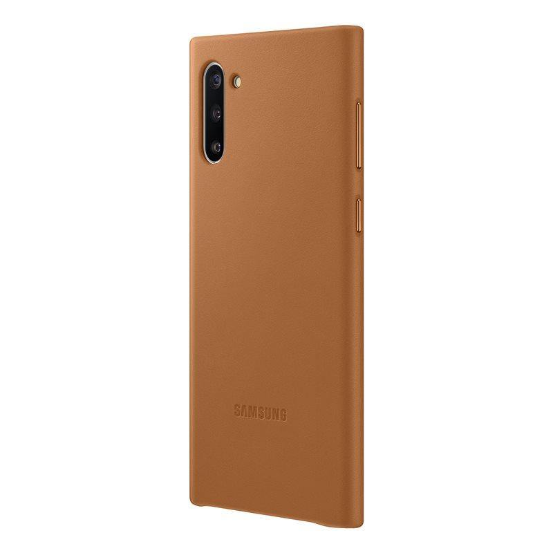 Official Samsung Galaxy Note 10 Leather Cover Case - Camel