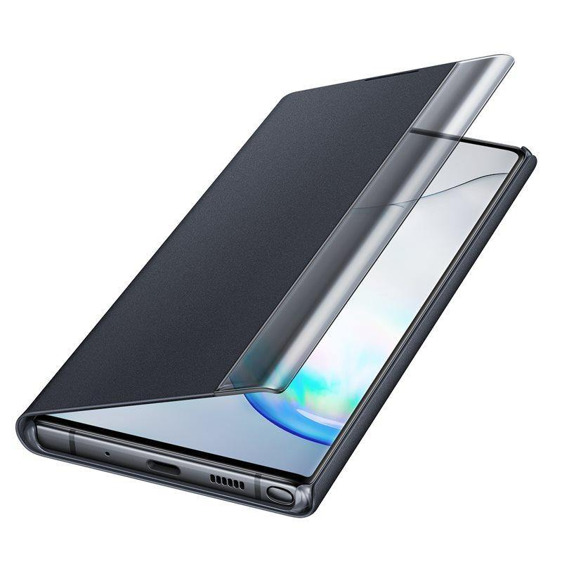 Official Samsung Galaxy Note 10 Plus 5G Clear View Case Black - Uk Mobile Store