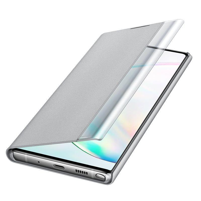 Official Samsung Galaxy Note 10 Plus Clear View Case - Silver - Uk Mobile Store