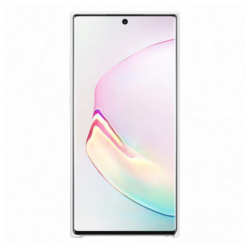 Official Samsung Galaxy Note 10 Plus 5G Silicone Cover Case White - Uk Mobile Store