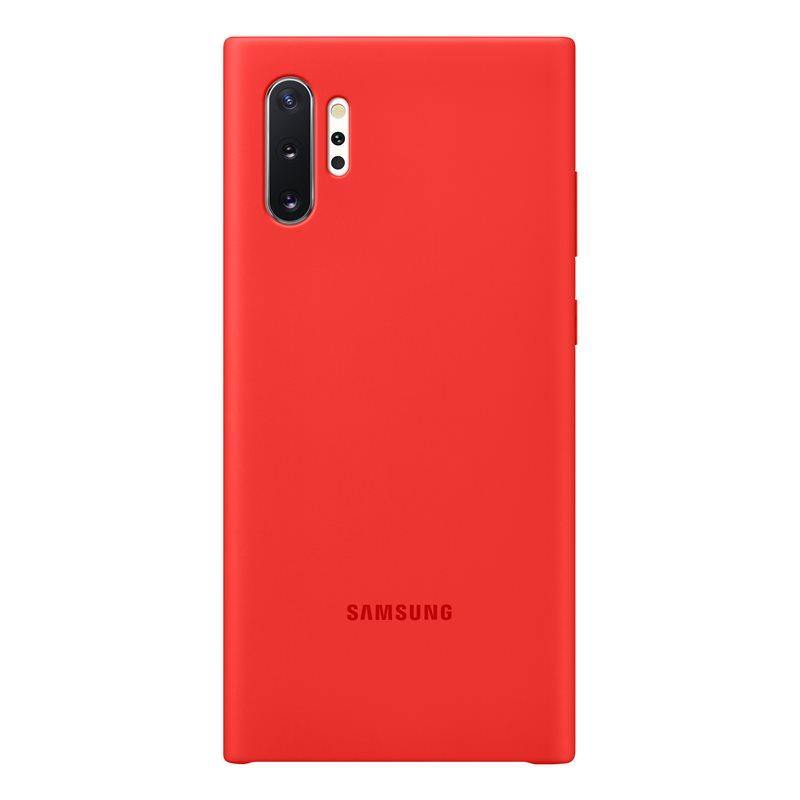 Official Samsung Galaxy Note 10 Plus 5G Silicone Cover Case Red